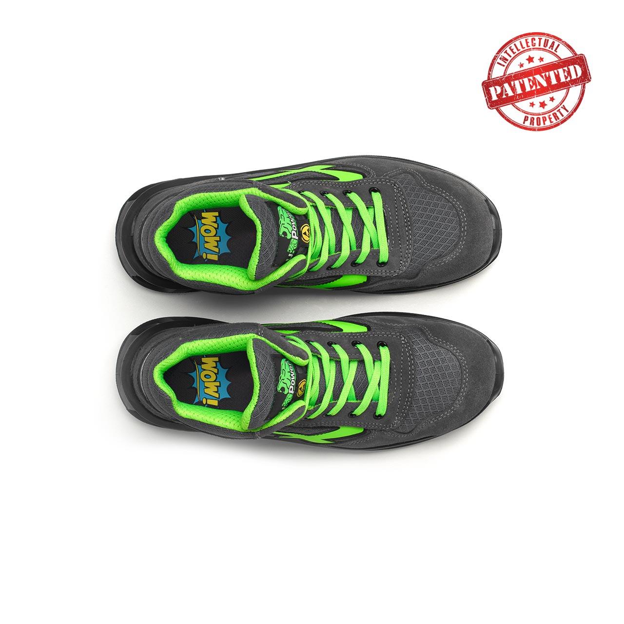 paio di scarpe antinfortunistiche alte upower modello ramas linea redlion vista top