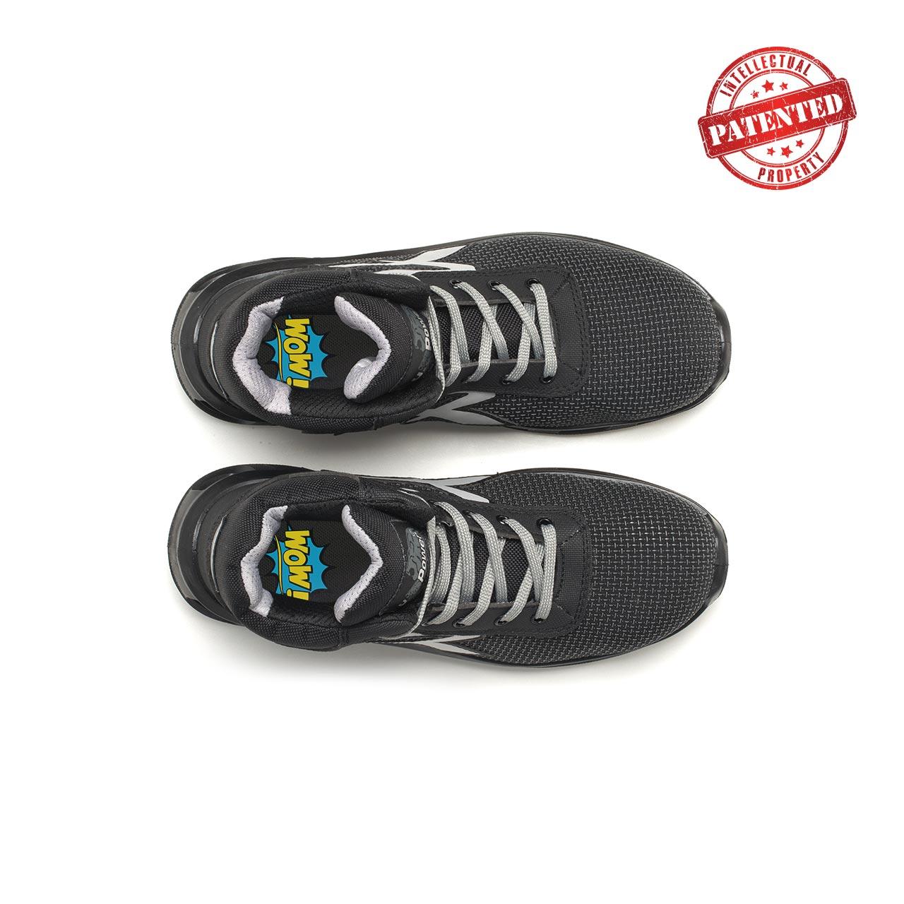 paio di scarpe antinfortunistiche alte upower modello stego linea redlion vista top