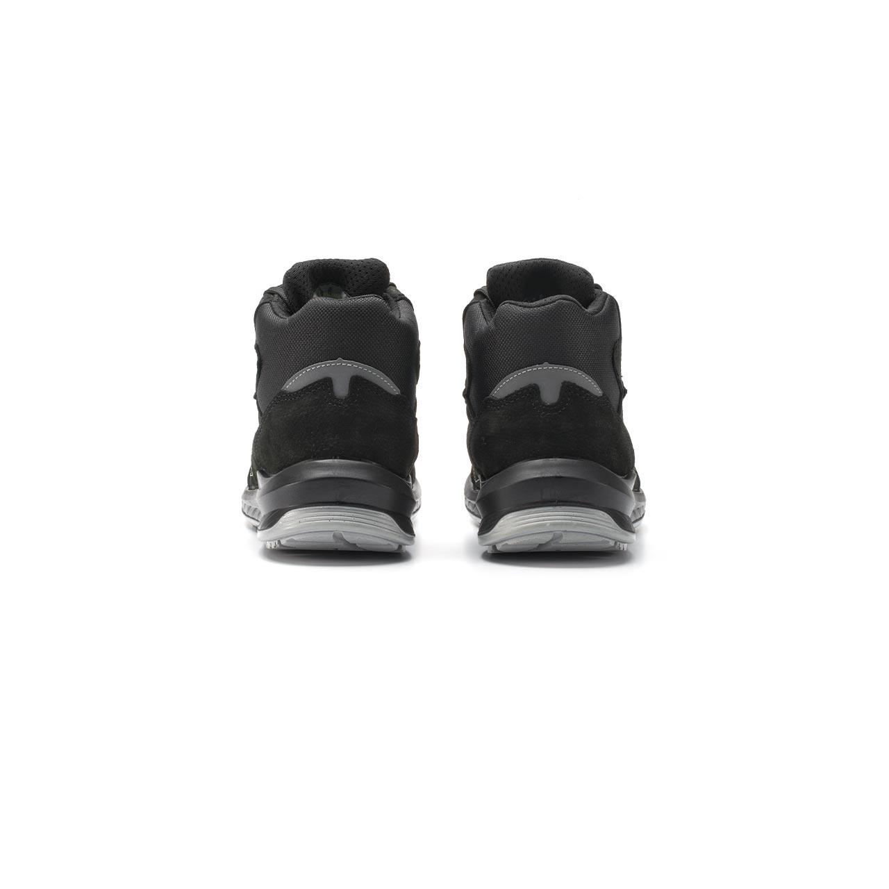 paio di scarpe antinfortunistiche alte upower modello tweed linea redindustry vista retro
