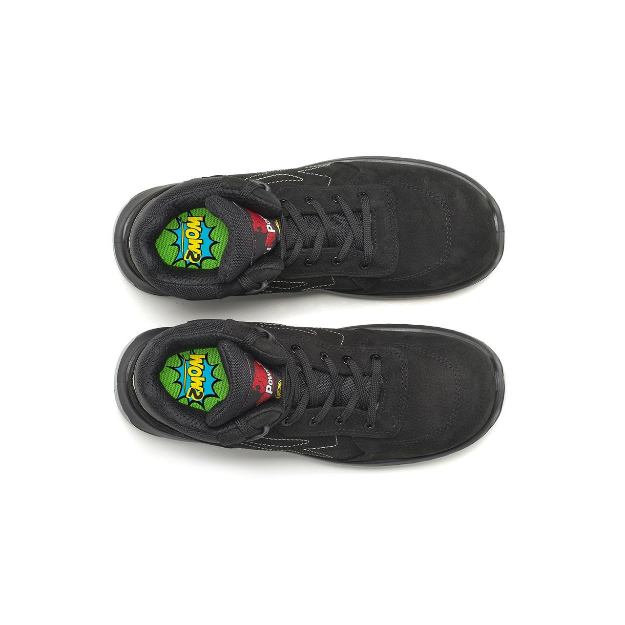 paio di scarpe antinfortunistiche alte upower modello tweed linea redindustry vista top