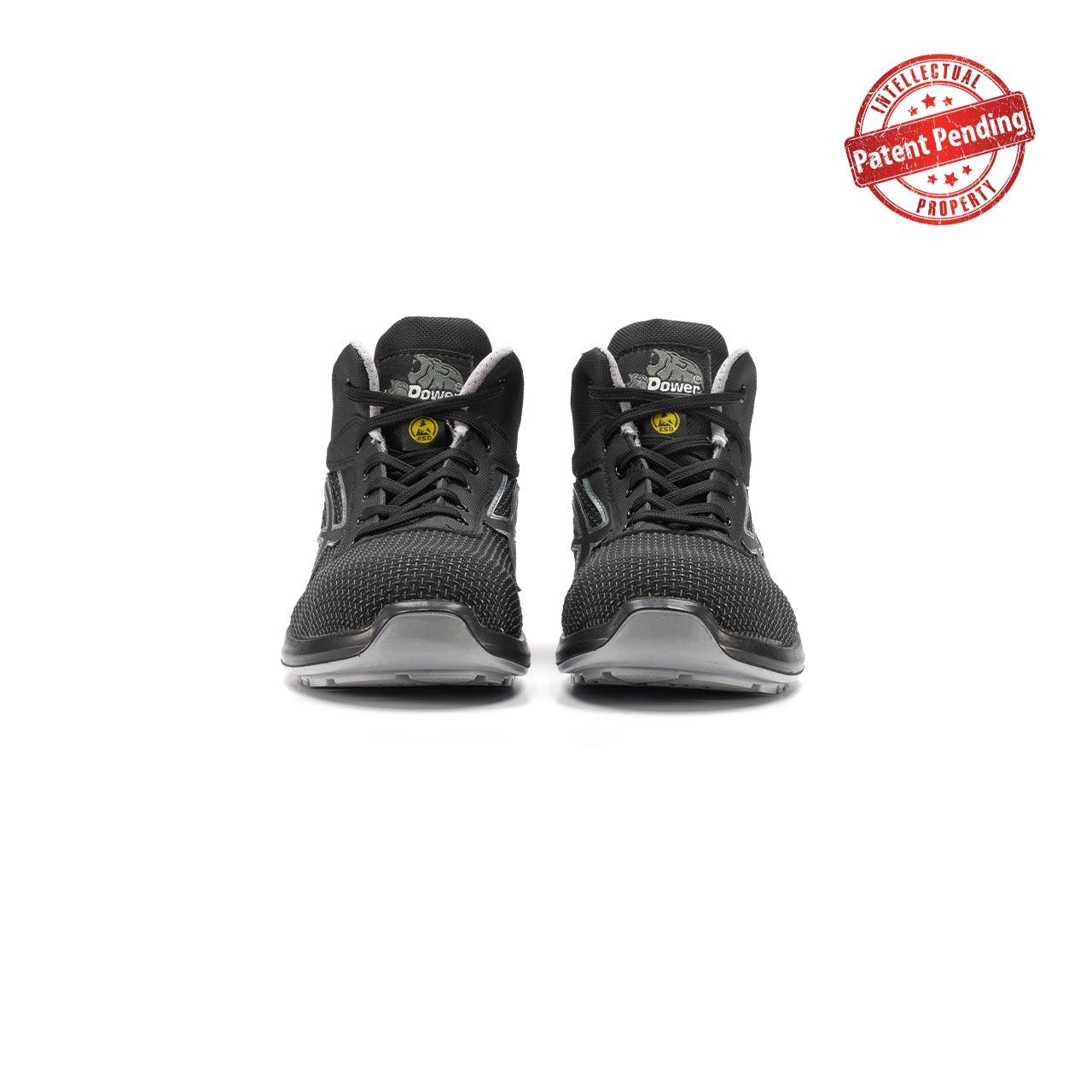 paio di scarpe antinfortunistiche alte upower modello velar linea redup vista frontale
