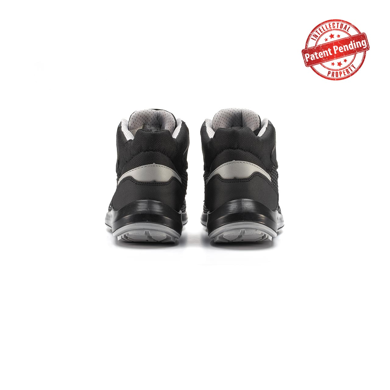 paio di scarpe antinfortunistiche alte upower modello velar linea redup vista retro