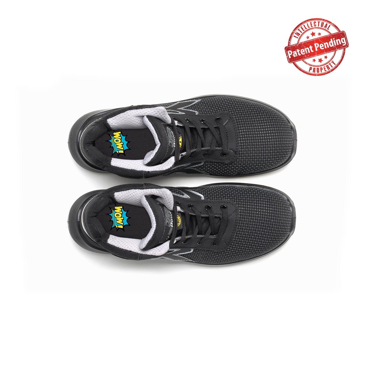 paio di scarpe antinfortunistiche alte upower modello velar linea redup vista top