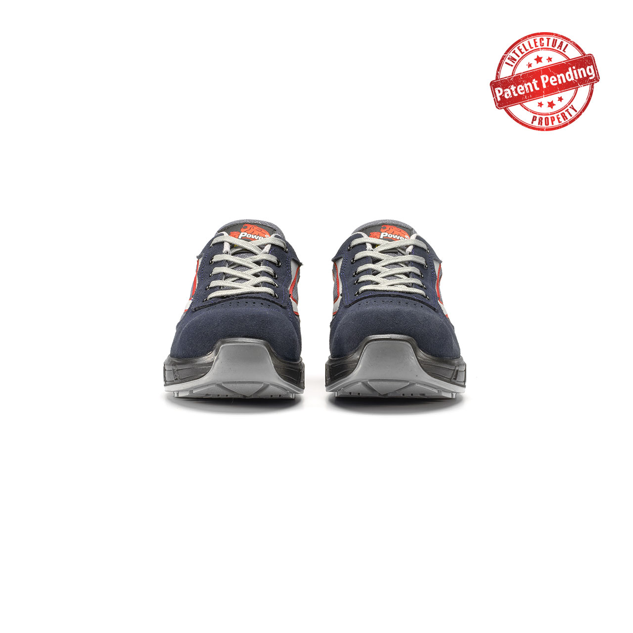 paio di scarpe antinfortunistiche upower modello active carpet linea redcarpet vista frontale