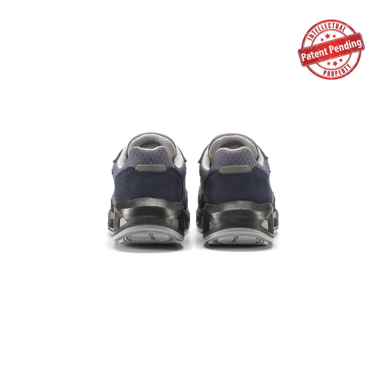 paio di scarpe antinfortunistiche upower modello active carpet linea redcarpet vista retro