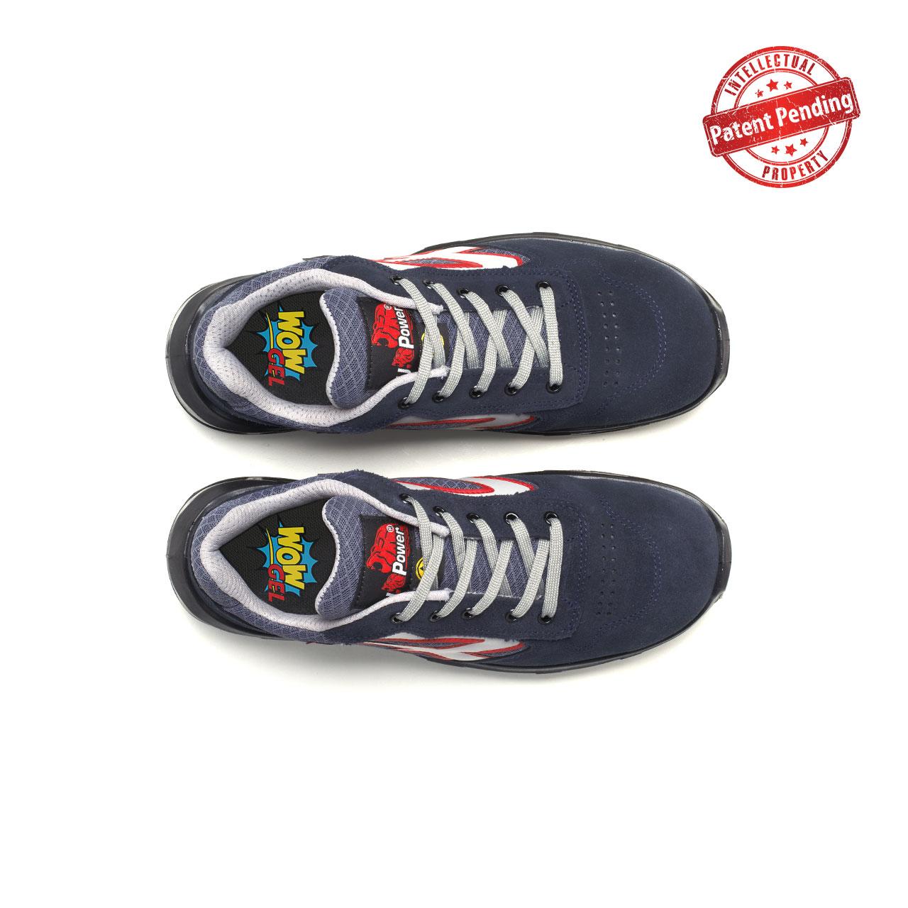 paio di scarpe antinfortunistiche upower modello active carpet linea redcarpet vista top