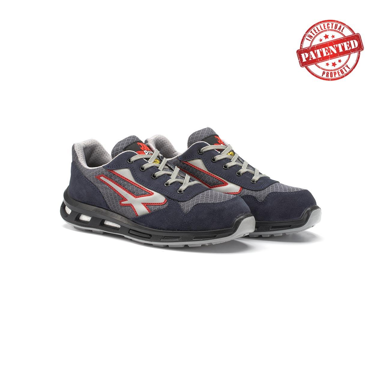 paio di scarpe antinfortunistiche upower modello active linea redlion vista prospettica