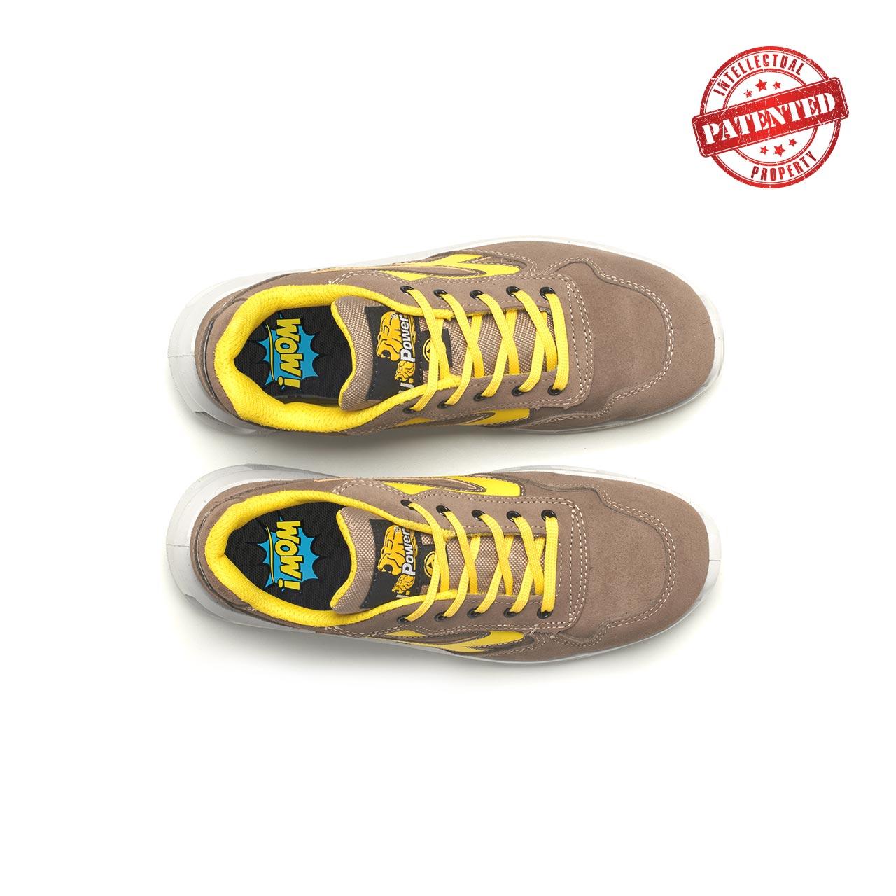paio di scarpe antinfortunistiche upower modello adventure linea redlion vista top