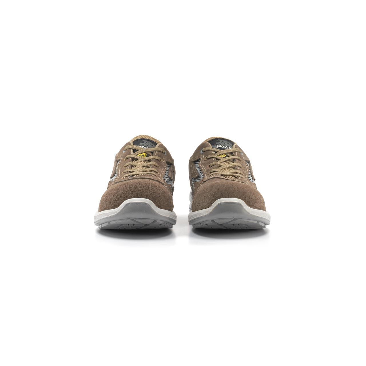 paio di scarpe antinfortunistiche upower modello aerator linea redindustry vista frontale