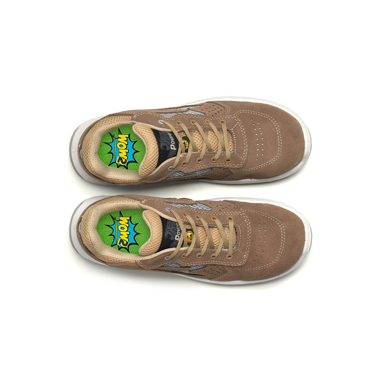 paio di scarpe antinfortunistiche upower modello aerator linea redindustry vista top