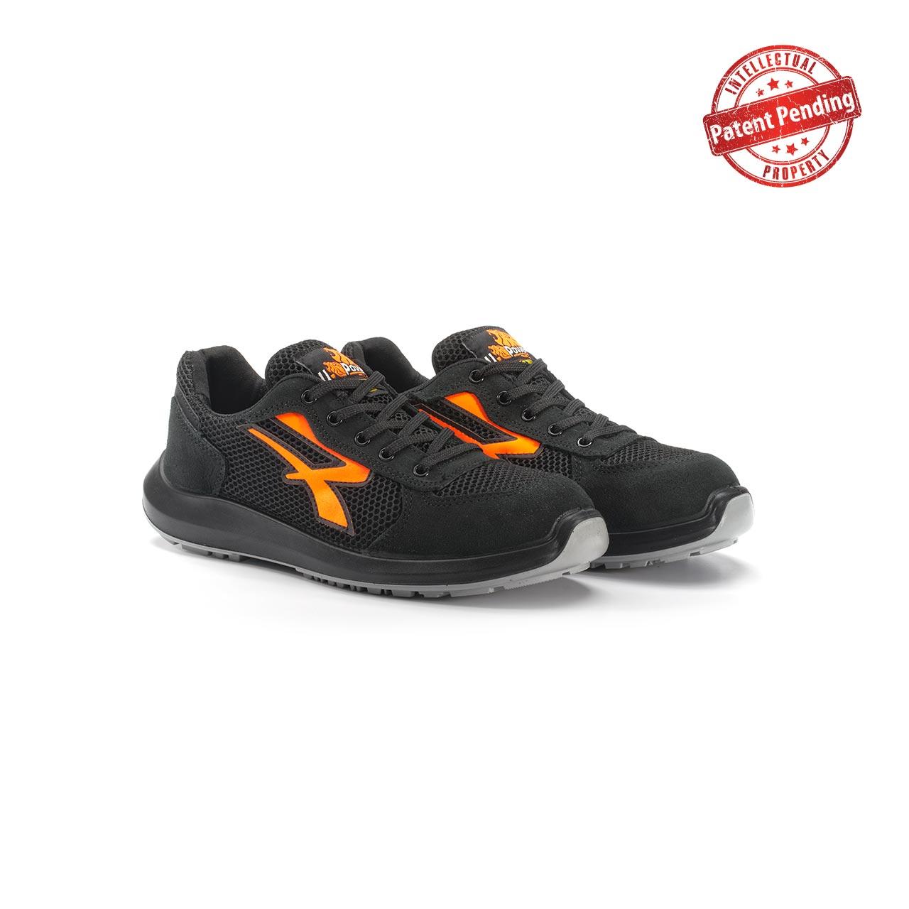 paio di scarpe antinfortunistiche upower modello atos linea redup vista prospettica