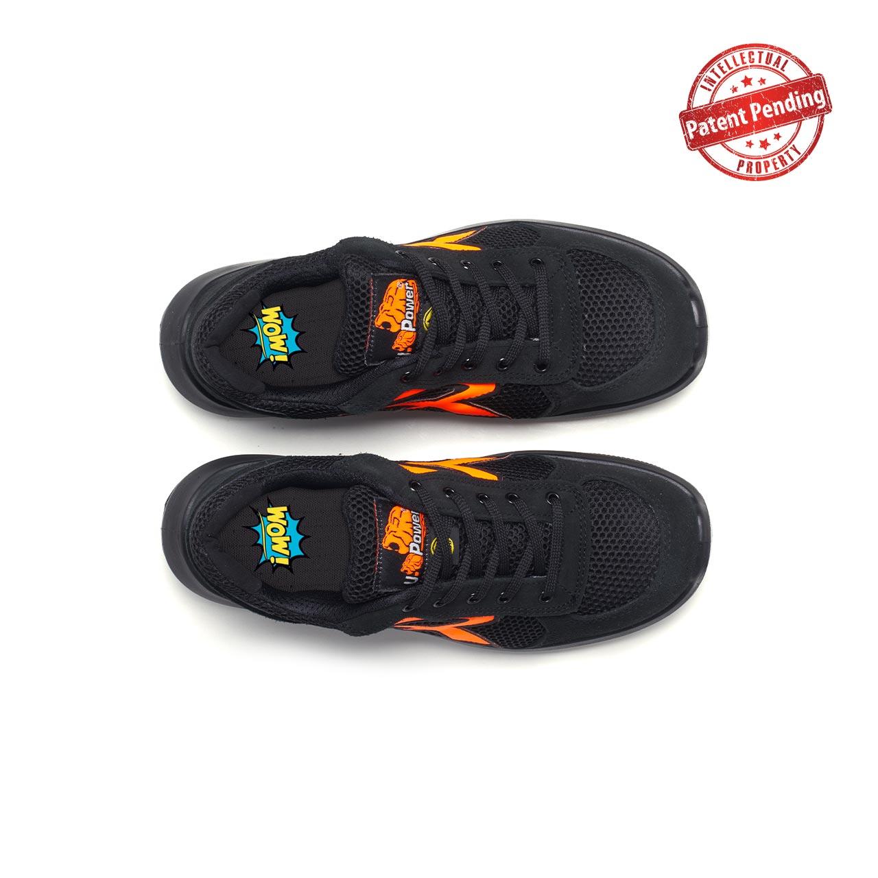 paio di scarpe antinfortunistiche upower modello atos linea redup vista top