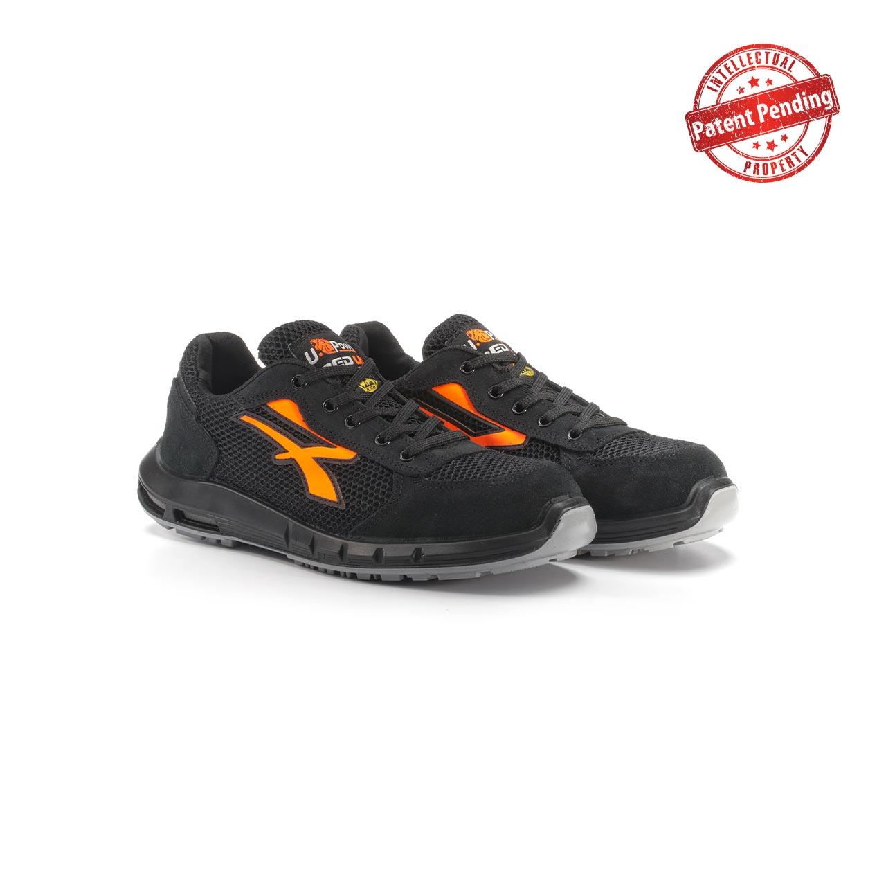 paio di scarpe antinfortunistiche upower modello atos plus linea redup plus vista prospettica
