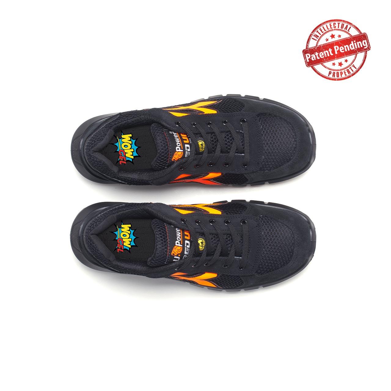 paio di scarpe antinfortunistiche upower modello atos plus linea redup plus vista top