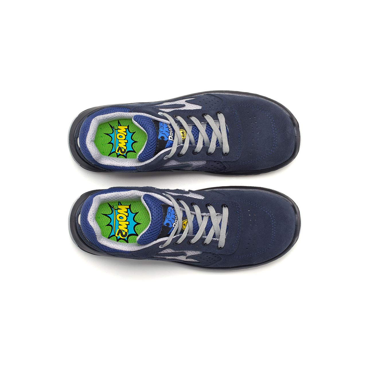 paio di scarpe antinfortunistiche upower modello berlino linea redindustry vista top