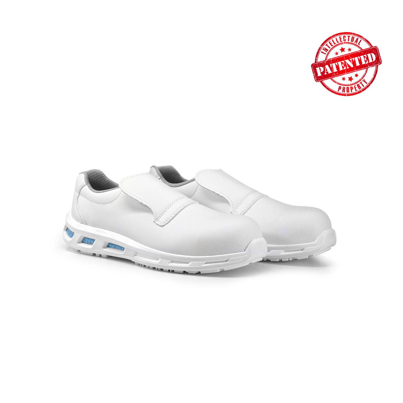 paio di scarpe antinfortunistiche upower modello blanco linea redlion vista prospettica