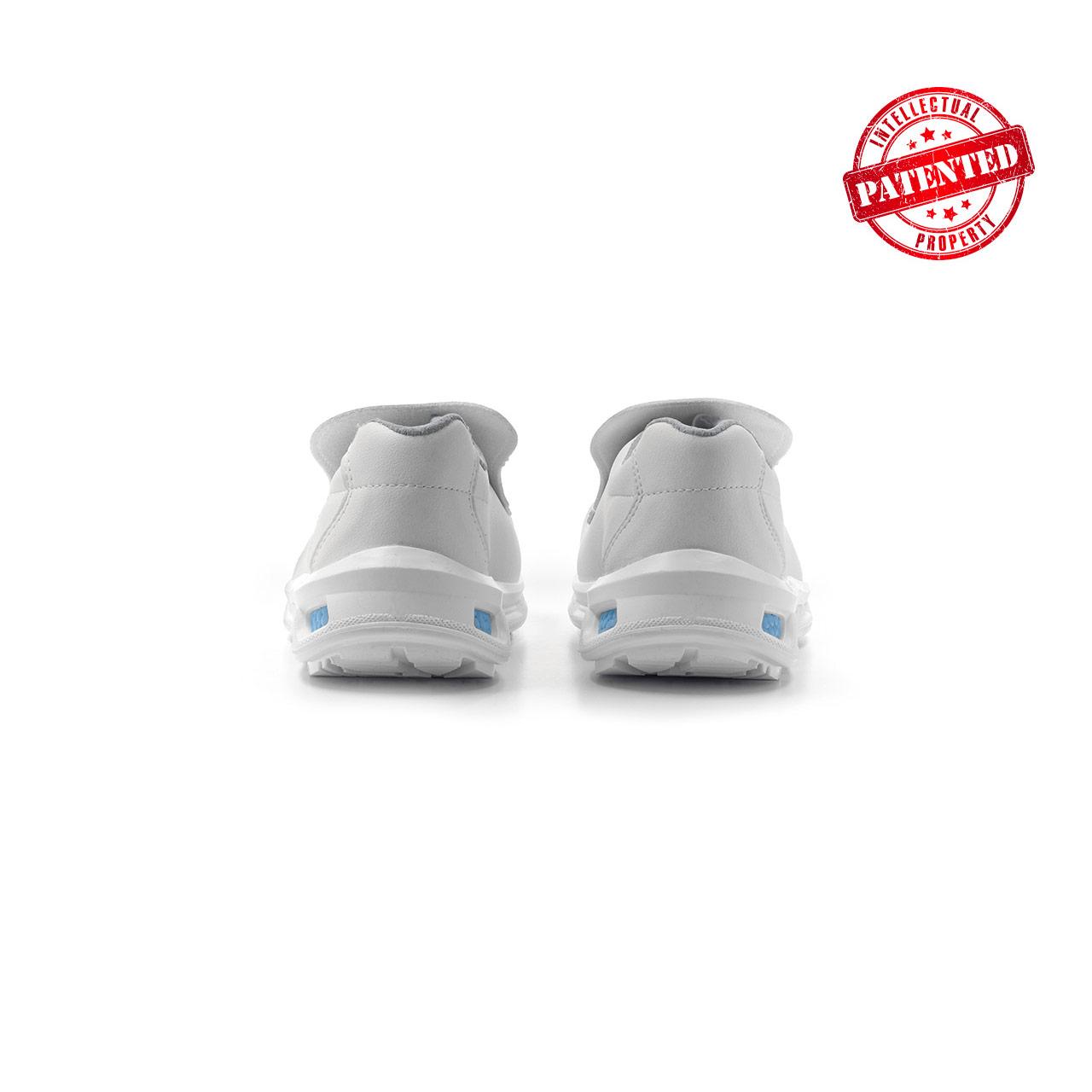 paio di scarpe antinfortunistiche upower modello blanco linea redlion vista retro