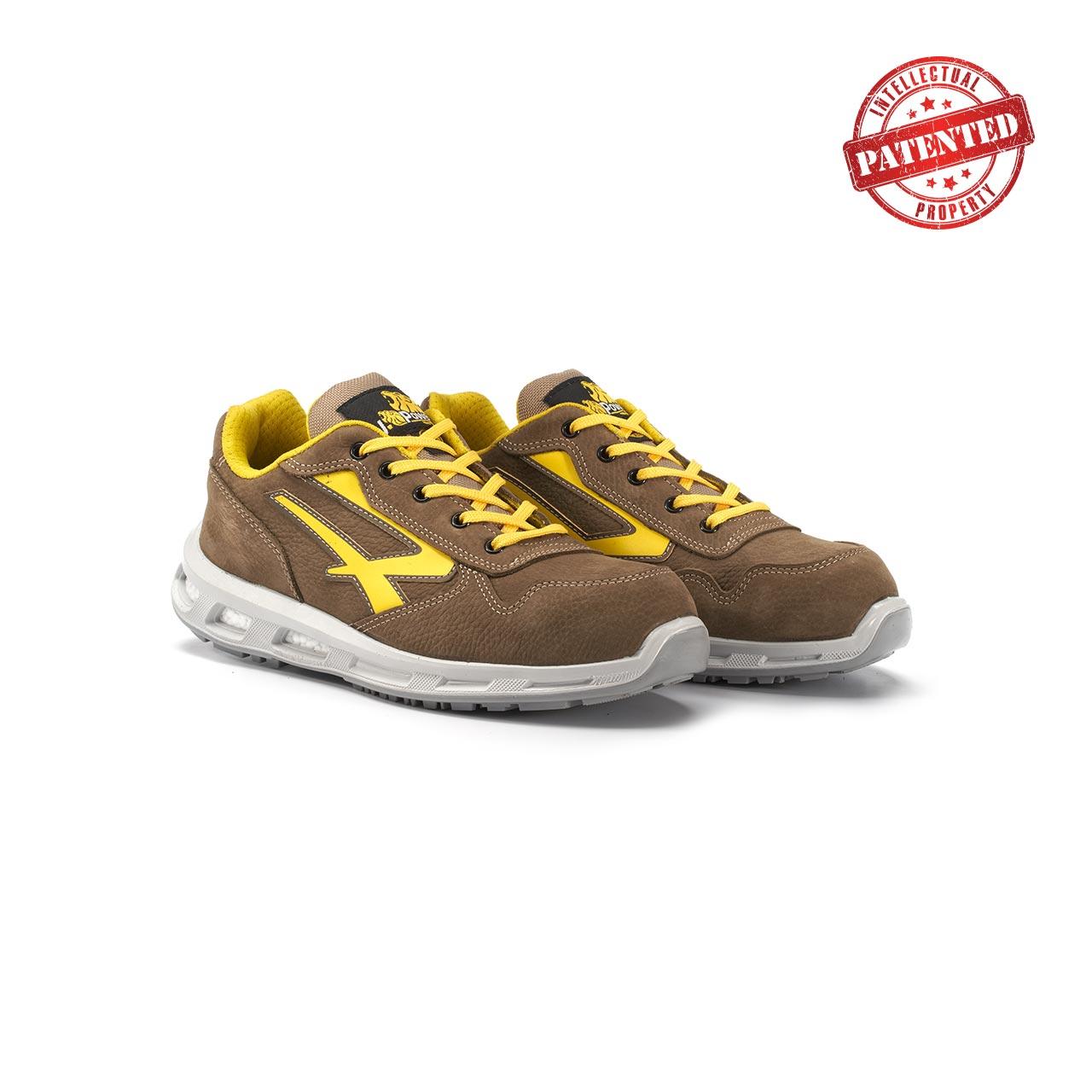 paio di scarpe antinfortunistiche upower modello brave linea redlion vista prospettica
