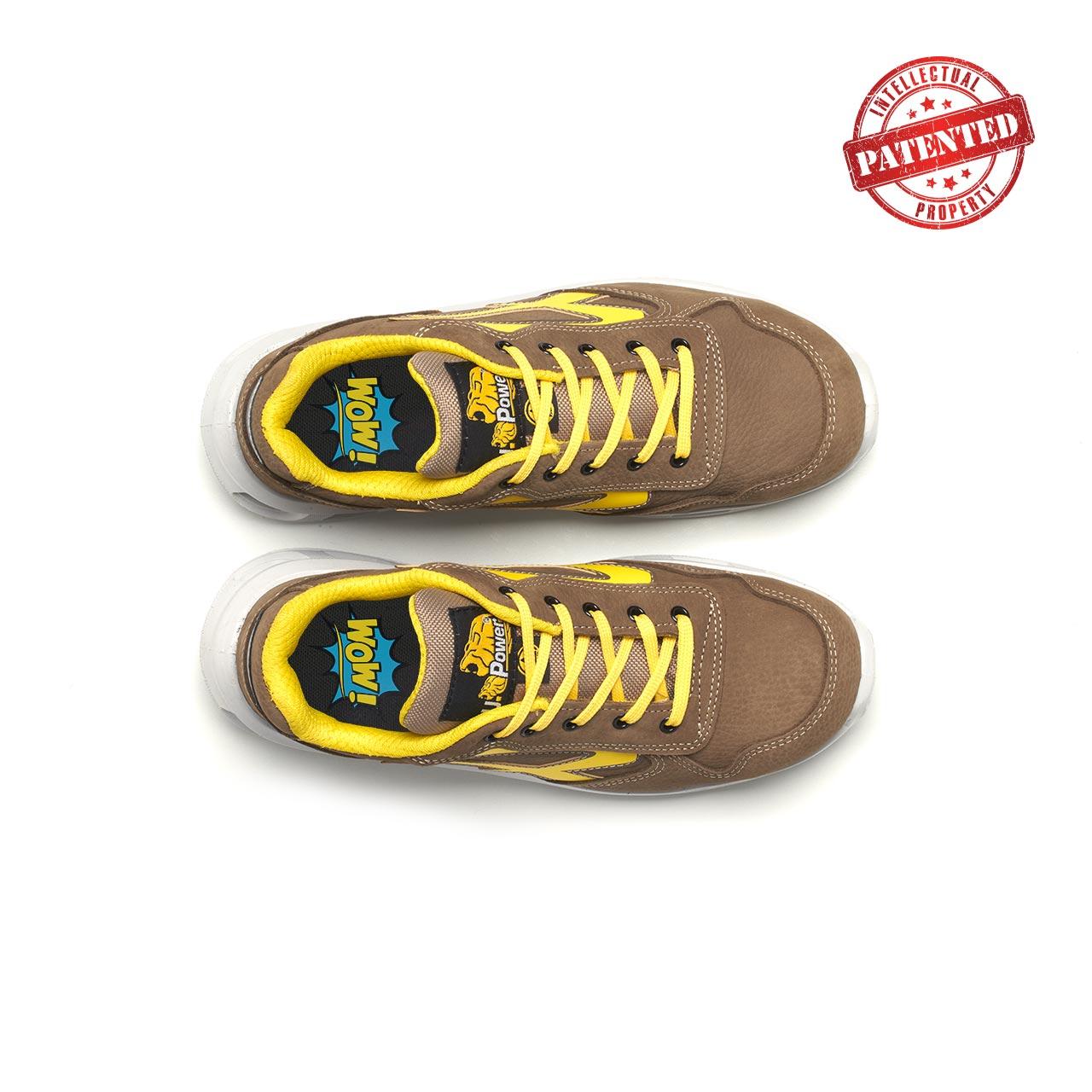 paio di scarpe antinfortunistiche upower modello brave linea redlion vista top