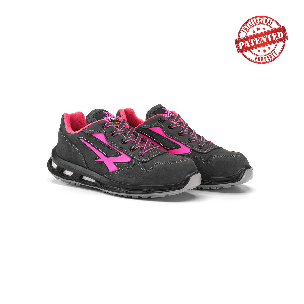 paio di scarpe antinfortunistiche upower modello candy linea redlion vista prospettica