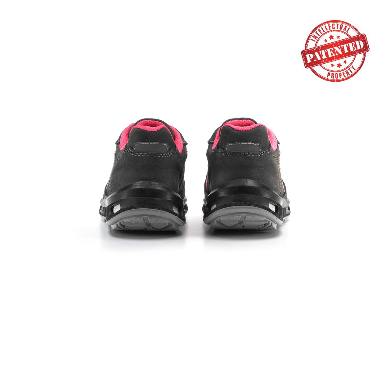 paio di scarpe antinfortunistiche upower modello candy linea redlion vista retro