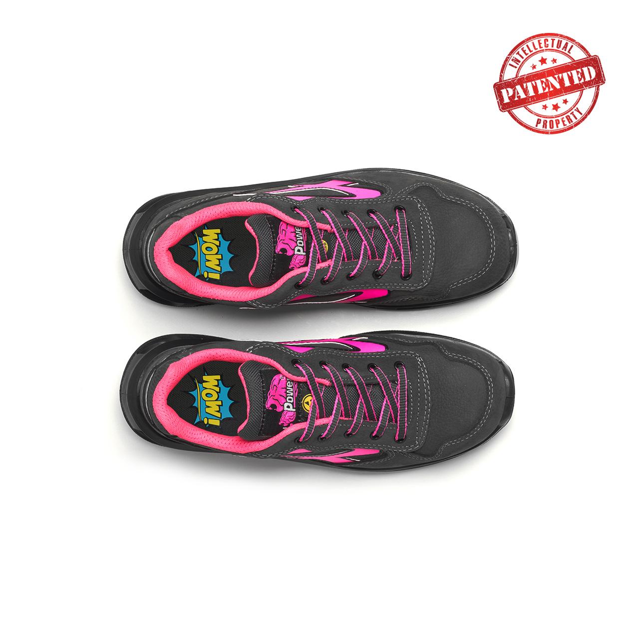 paio di scarpe antinfortunistiche upower modello candy linea redlion vista top