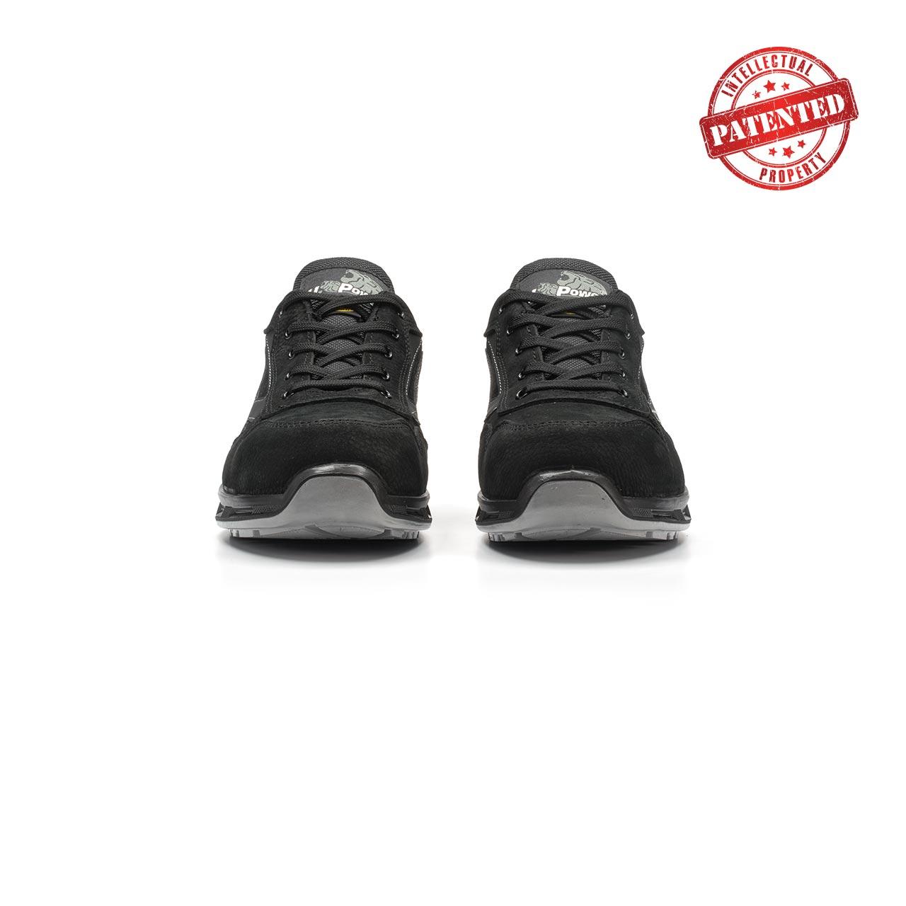 paio di scarpe antinfortunistiche upower modello carbon linea redlion vista frontale