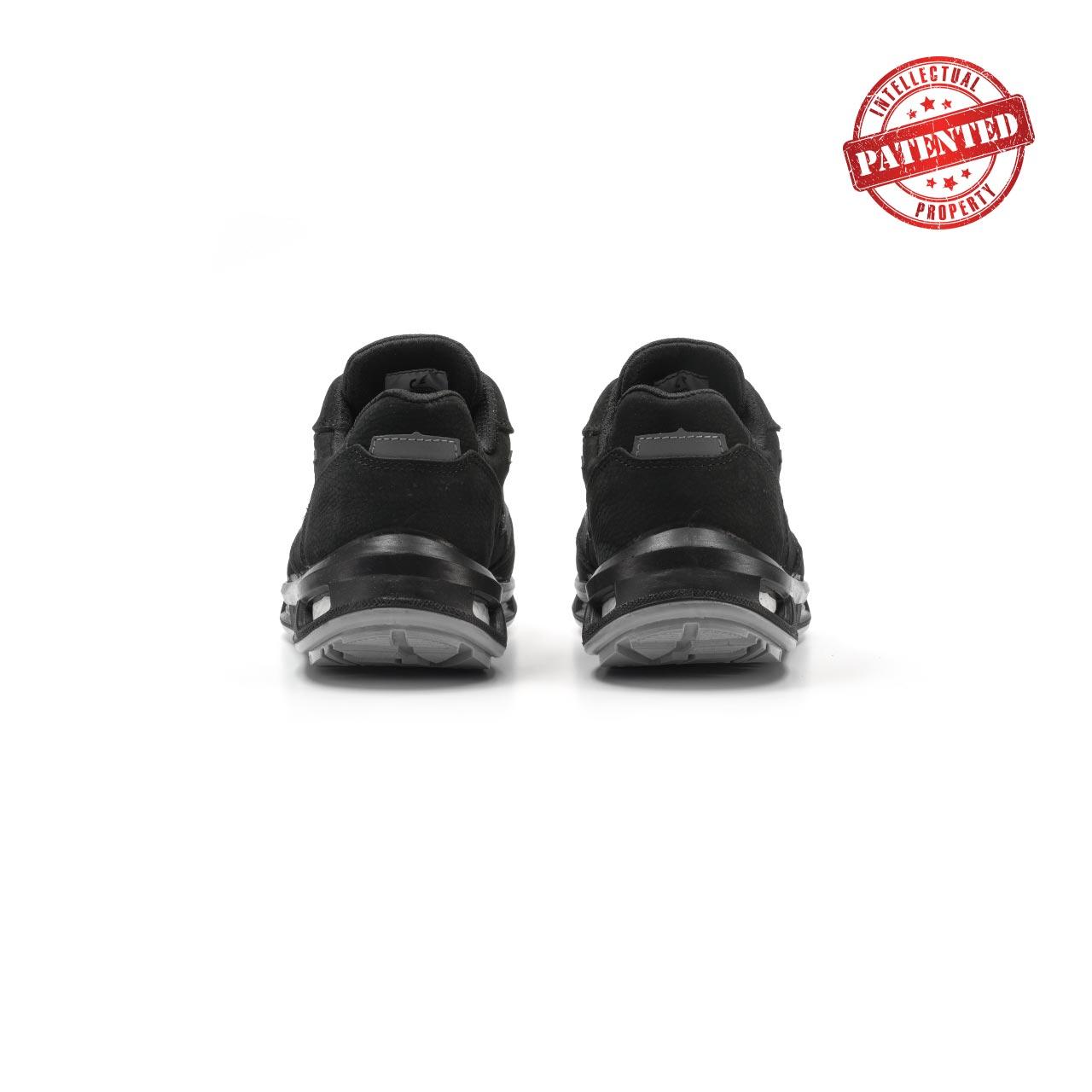 paio di scarpe antinfortunistiche upower modello carbon linea redlion vista retro