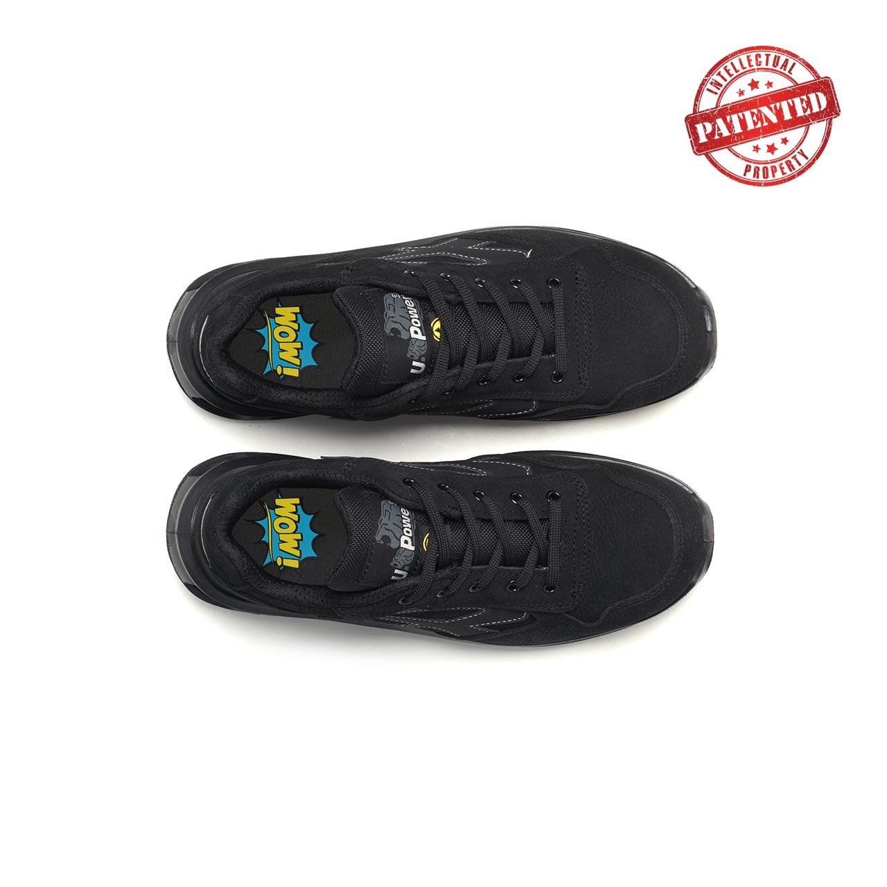 paio di scarpe antinfortunistiche upower modello carbon linea redlion vista top