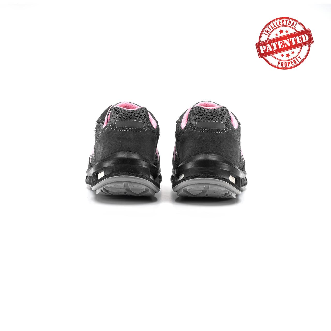 paio di scarpe antinfortunistiche upower modello cherry linea redlion vista retro
