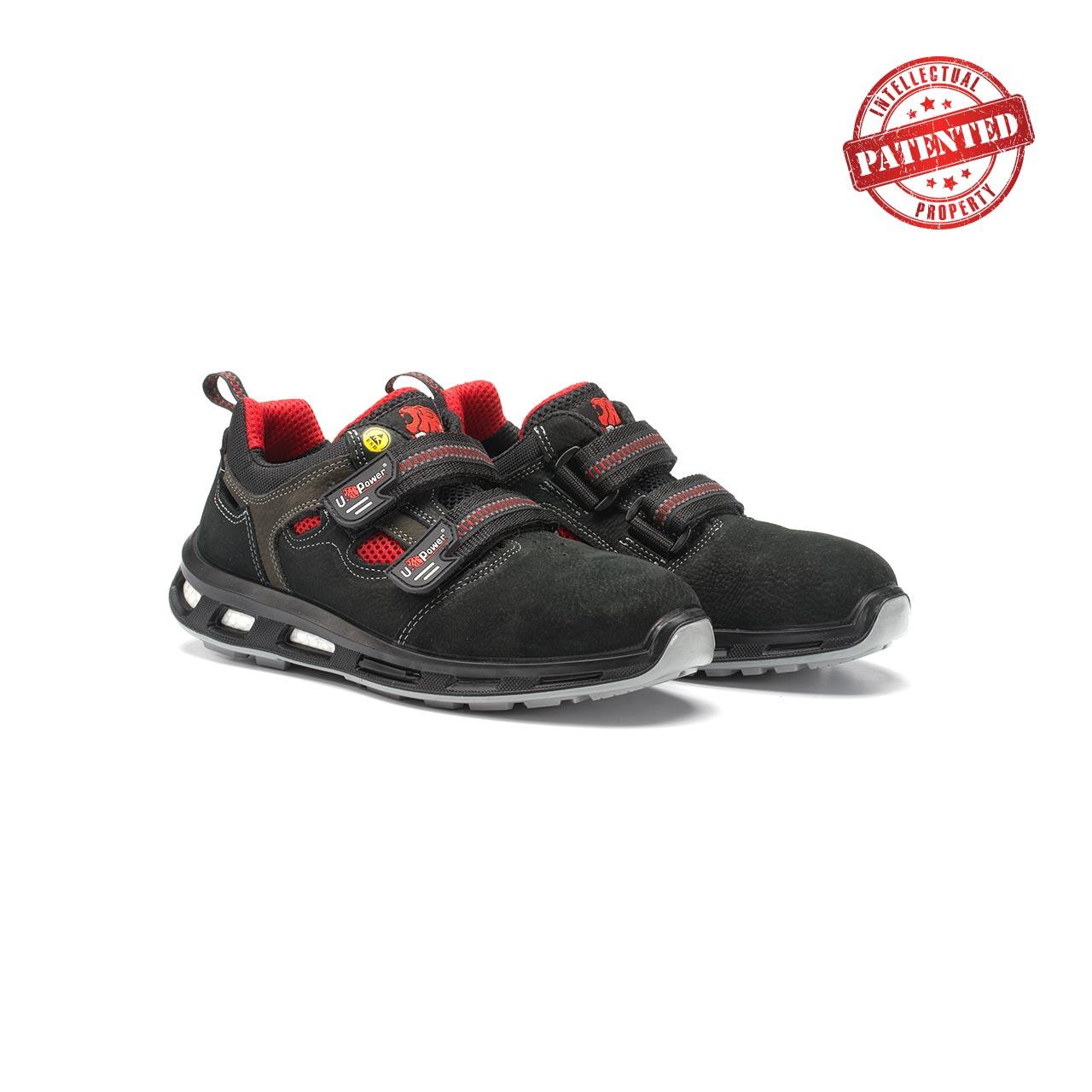 paio di scarpe antinfortunistiche upower modello cody linea redlion vista prospettica