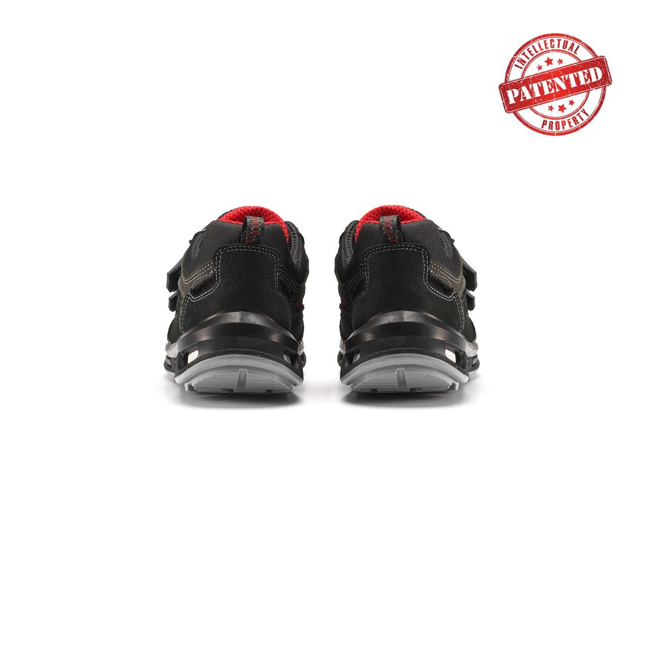 paio di scarpe antinfortunistiche upower modello cody linea redlion vista retro