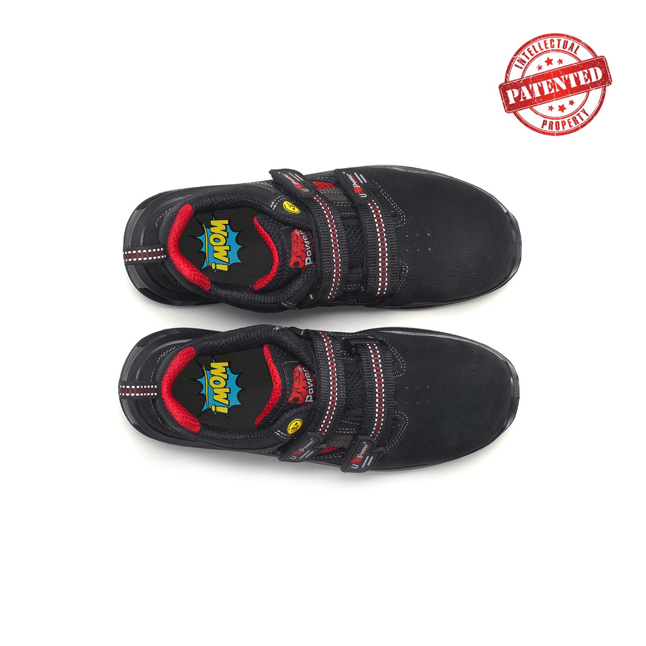 paio di scarpe antinfortunistiche upower modello cody linea redlion vista top