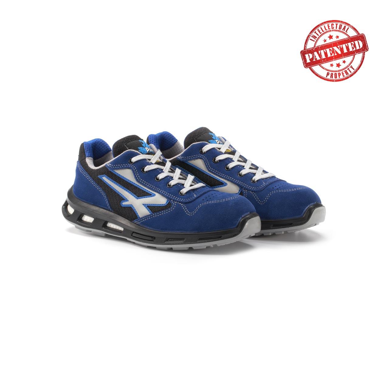 paio di scarpe antinfortunistiche upower modello dea linea redlion vista prospettica