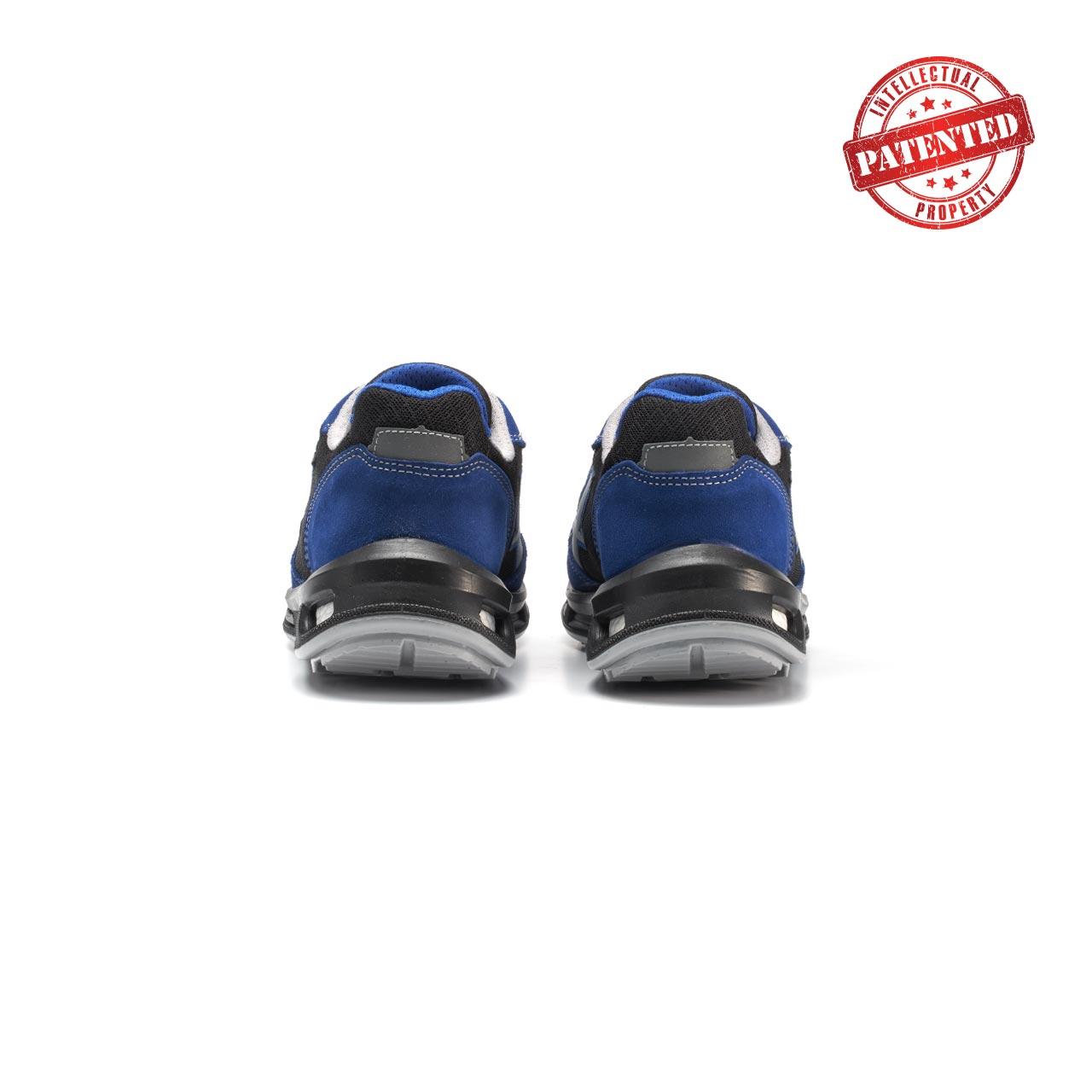 paio di scarpe antinfortunistiche upower modello dea linea redlion vista retro
