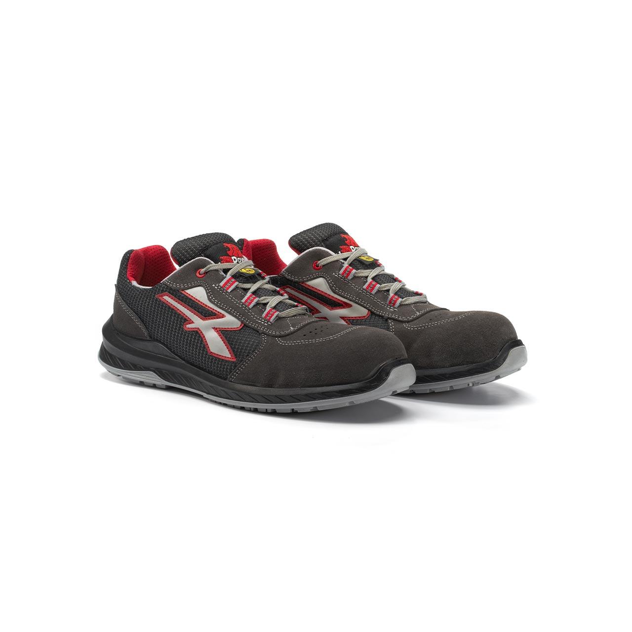 paio di scarpe antinfortunistiche upower modello demon linea redindustry vista prospettica