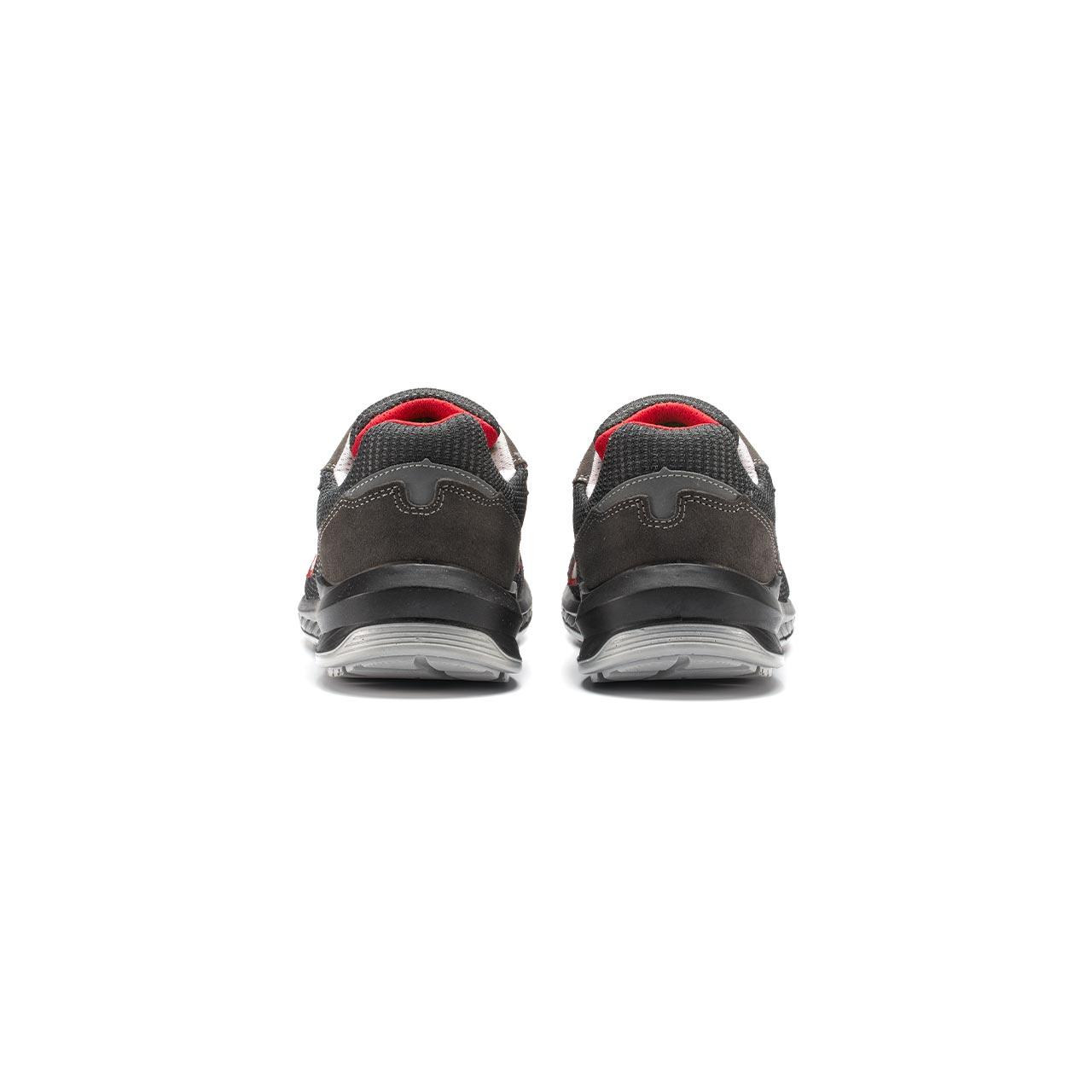 paio di scarpe antinfortunistiche upower modello demon linea redindustry vista retro