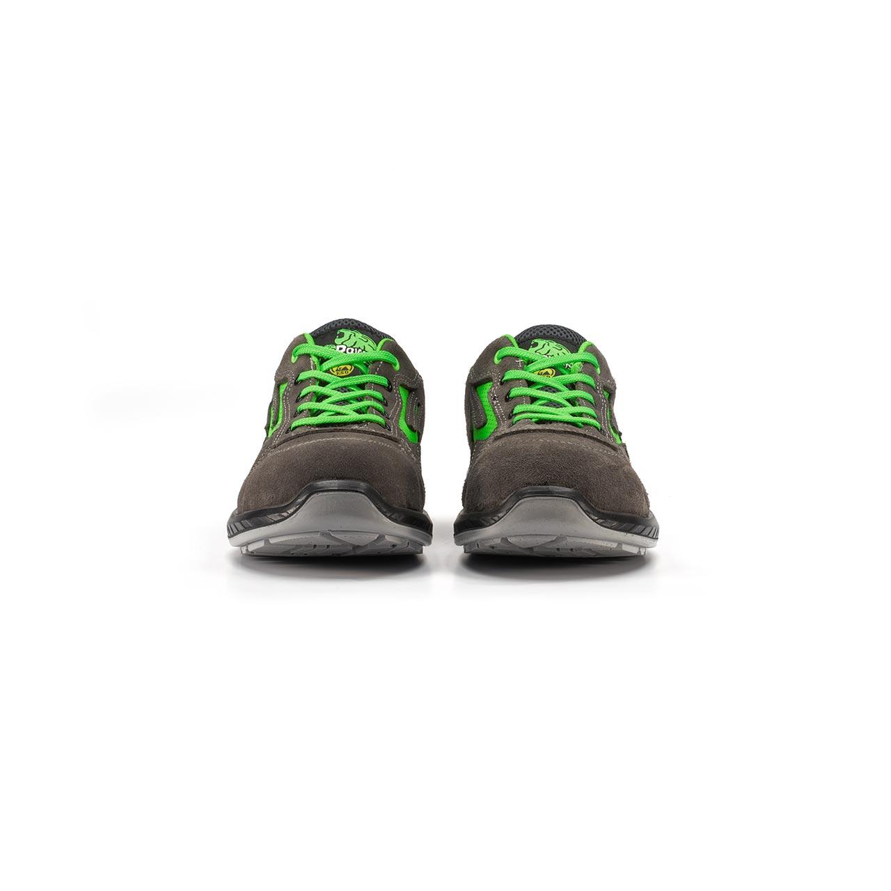 paio di scarpe antinfortunistiche upower modello denver linea redindustry vista frontale
