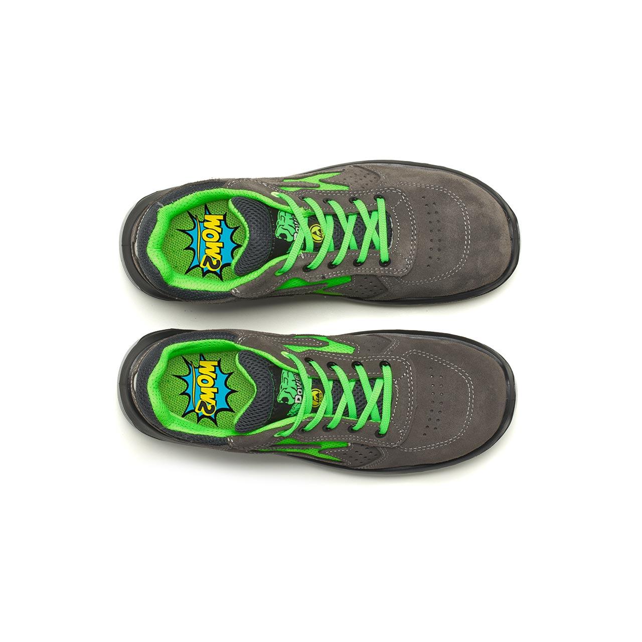 paio di scarpe antinfortunistiche upower modello denver linea redindustry vista top