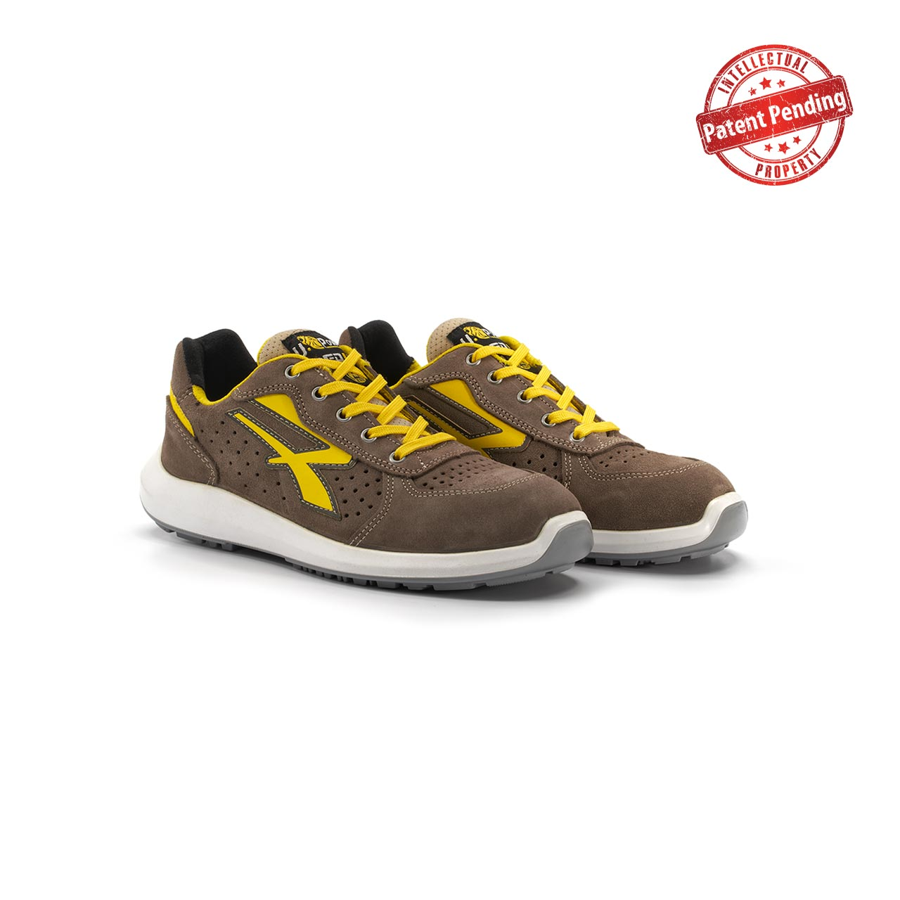 paio di scarpe antinfortunistiche upower modello dorado linea redup vista prospettica