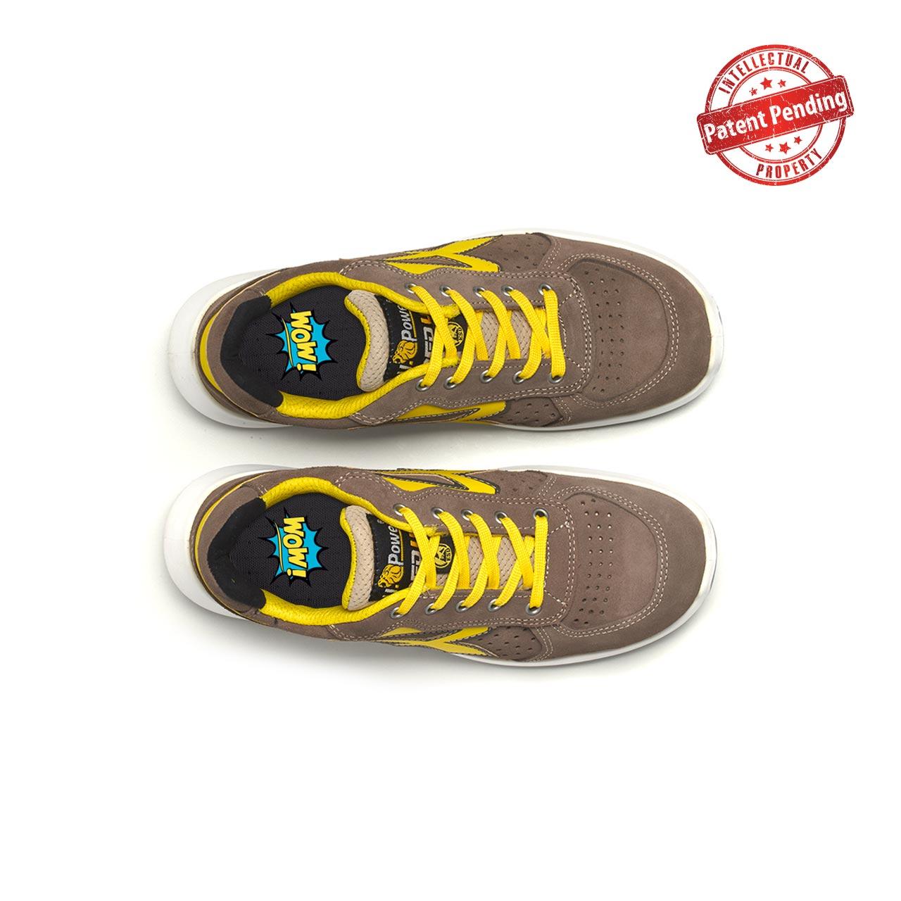 paio di scarpe antinfortunistiche upower modello dorado linea redup vista top