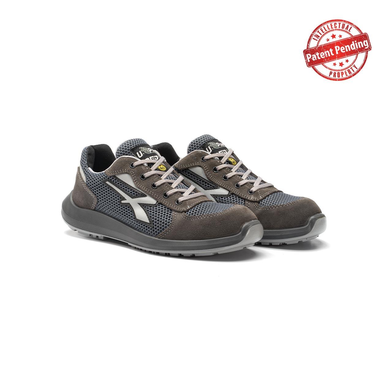 paio di scarpe antinfortunistiche upower modello draco linea redup vista prospettica