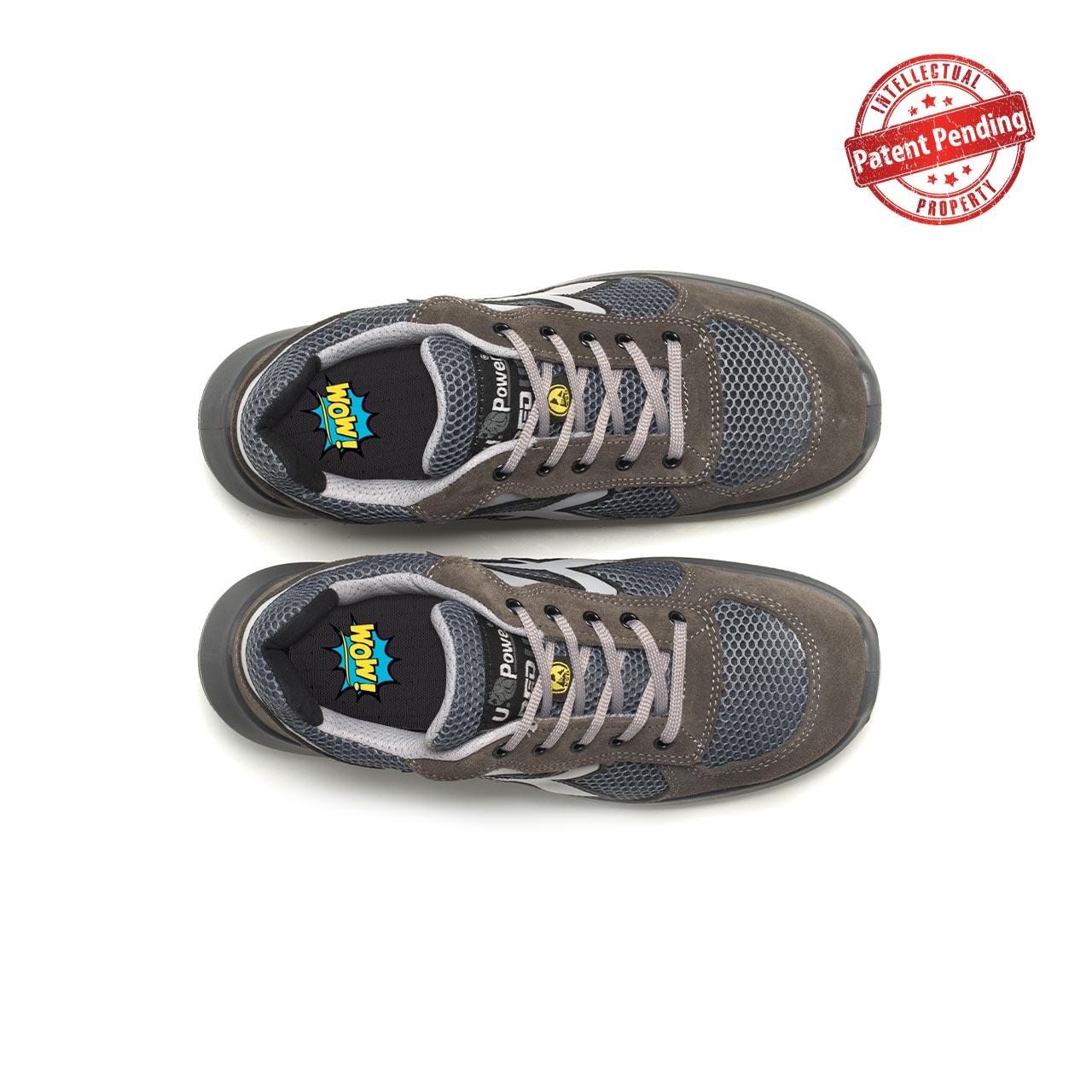 paio di scarpe antinfortunistiche upower modello draco linea redup vista top