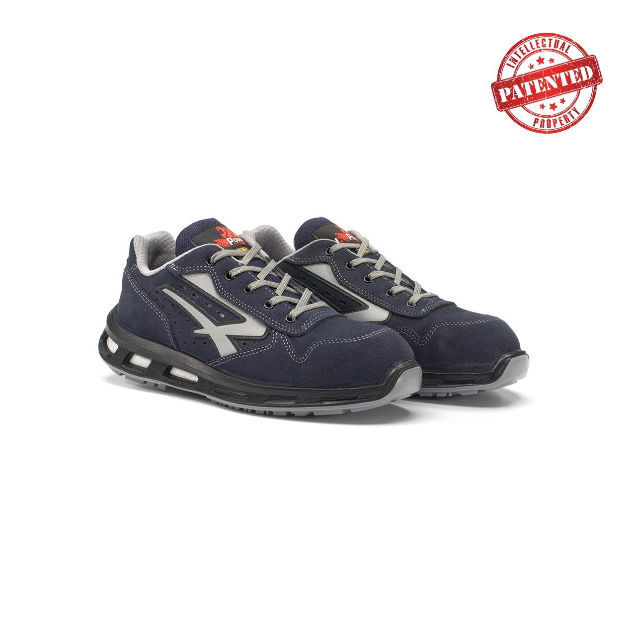 paio di scarpe antinfortunistiche upower modello emotion linea redlion vista prospettica