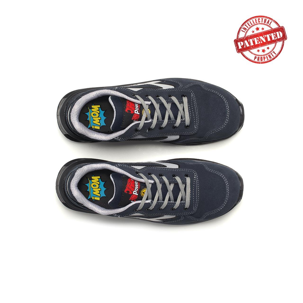 paio di scarpe antinfortunistiche upower modello emotion linea redlion vista top