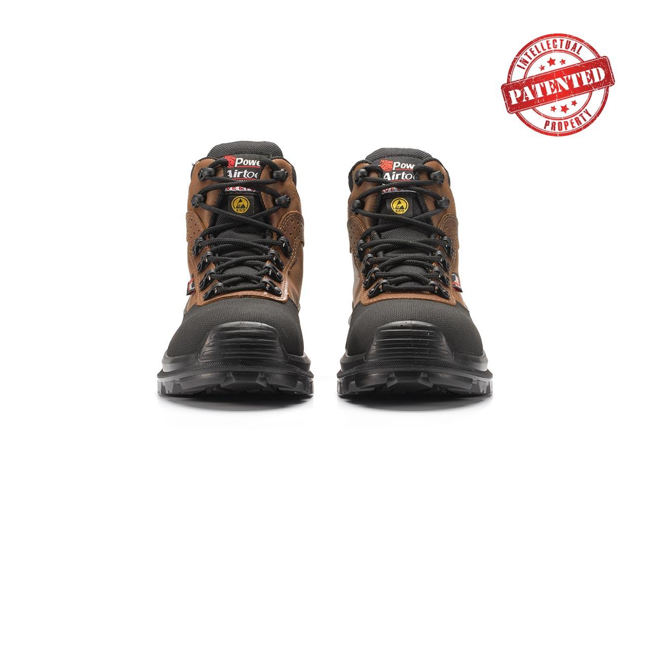 paio di scarpe antinfortunistiche upower modello floyd linea redlion vista frontale