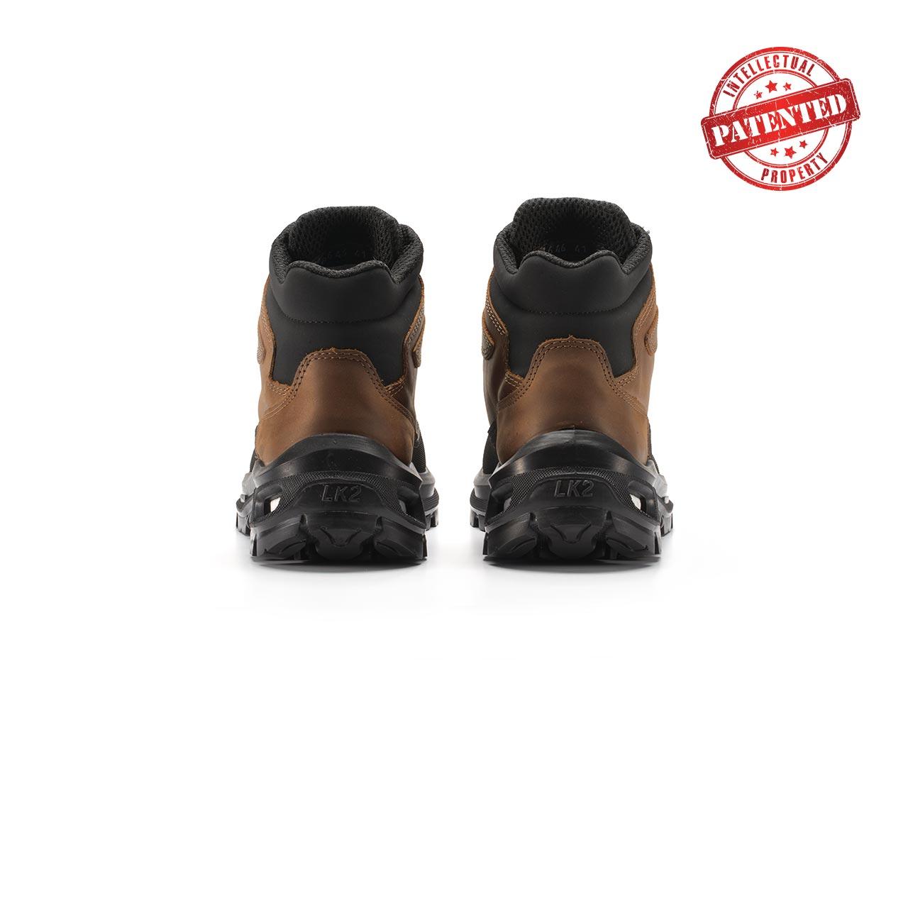 paio di scarpe antinfortunistiche upower modello floyd linea redlion vista retro