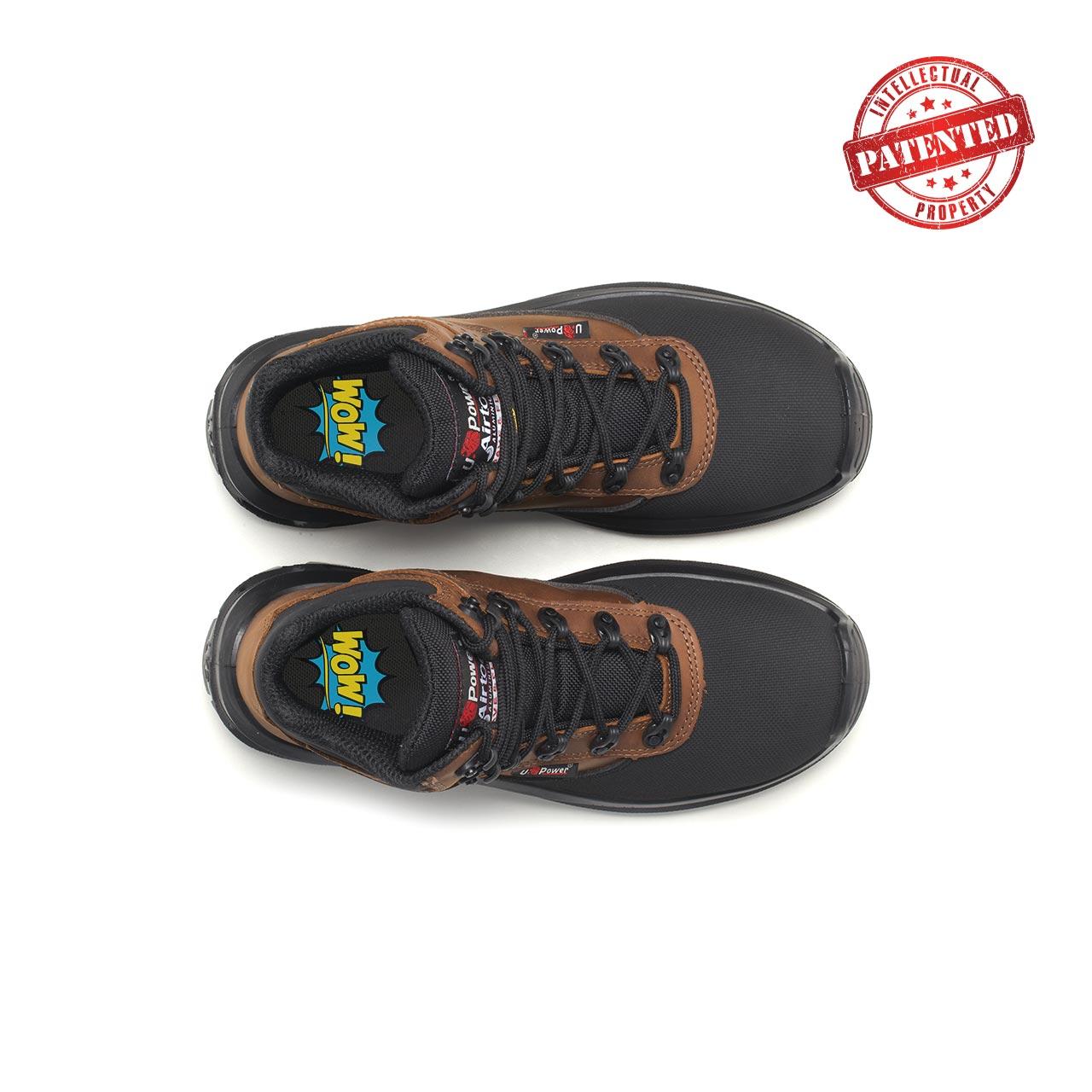 paio di scarpe antinfortunistiche upower modello floyd linea redlion vista top