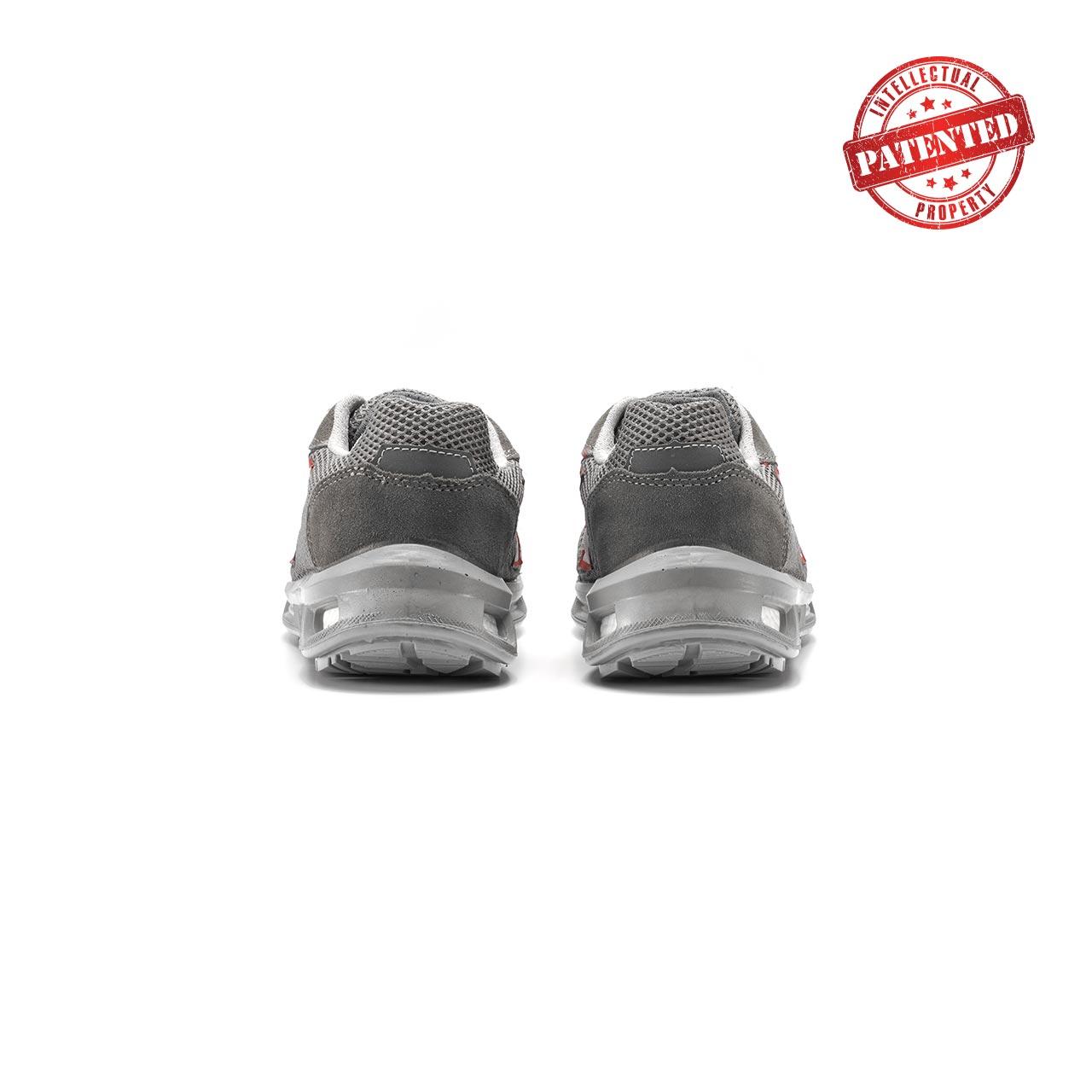 paio di scarpe antinfortunistiche upower modello frequency linea redlion vista retro