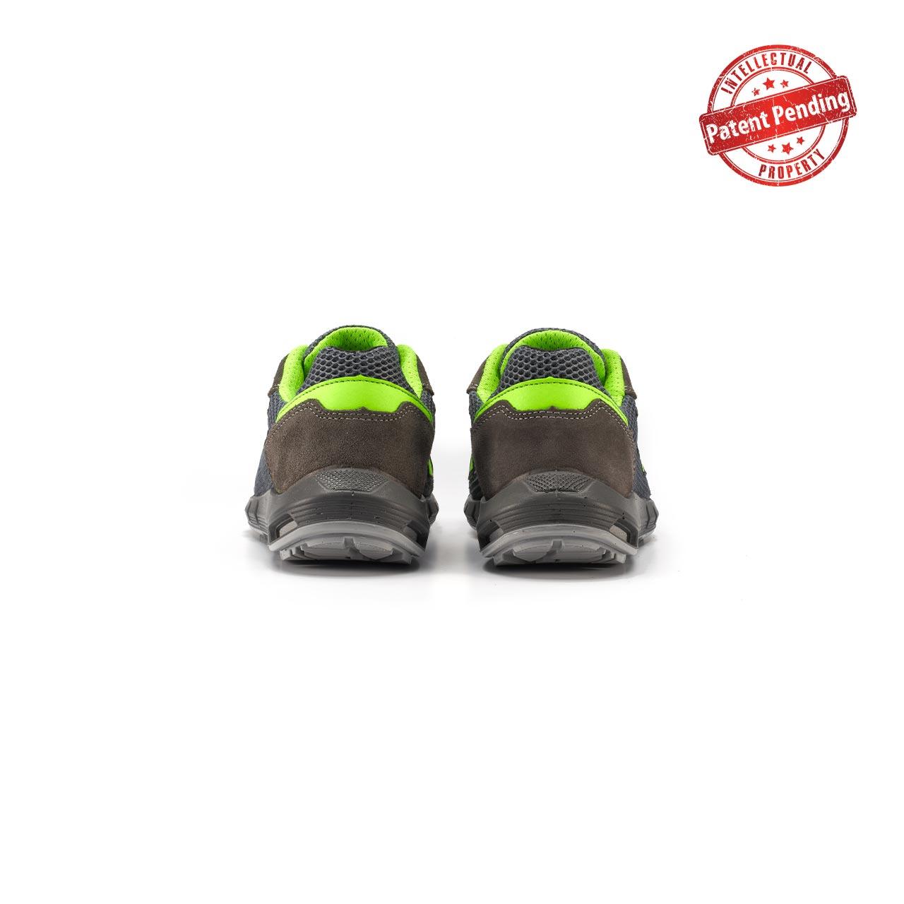 paio di scarpe antinfortunistiche upower modello gemini linea redup plus vista retro